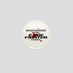 Mountain Biker Cage Fighter by Night Mini Button