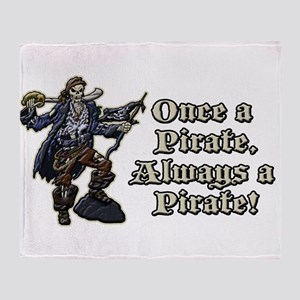 Once a Pirate Throw Blanket