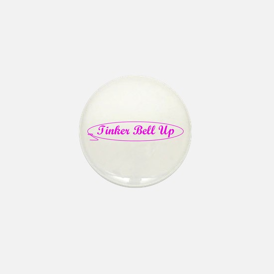 Tinker Bell Up Mini Button