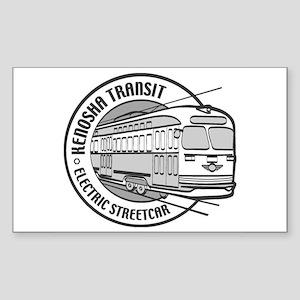 FRIENDS OF KENOSHA STREETCARS Rectangle Sticker