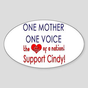 Heart Cindy Sheehan Oval Sticker