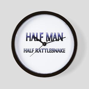 Half Man Half Rattlesnake Wall Clock