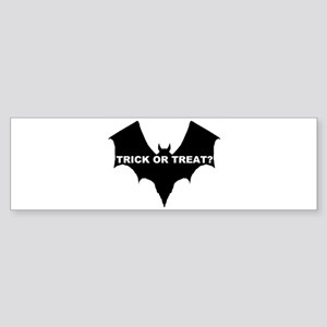 BLACK BAT - TRICK OR TREAT? Bumper Sticker