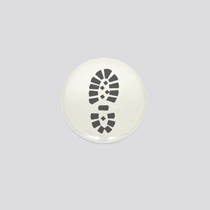 Hiking Boot Print Mini Button