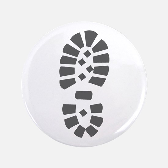 """Hiking Boot Print 3.5"""" Button"""