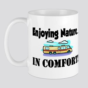 Enjoying Nature In Comfort Mug