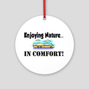 Enjoying Nature In Comfort Ornament (Round)