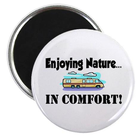 Enjoying Nature In Comfort Magnet