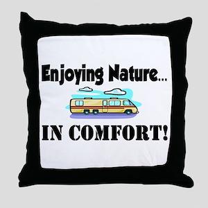 Enjoying Nature In Comfort Throw Pillow