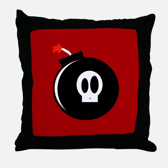 Submunition Cartoon Bomb Throw Pillow