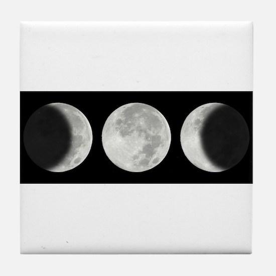 Three Phase Moon Tile Coaster