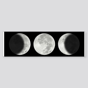 Three Phase Moon Bumper Sticker