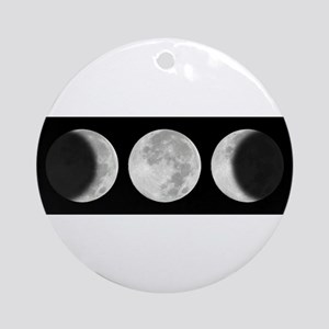 Three Phase Moon Ornament (Round)