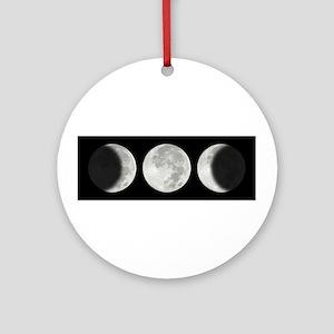Three Phase Moon Ornament (Round)