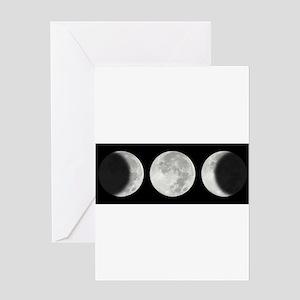 Three Phase Moon Greeting Card