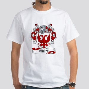 Dunlap Family Crest White T-Shirt