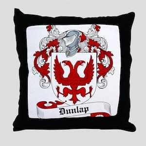 Dunlap Family Crest Throw Pillow