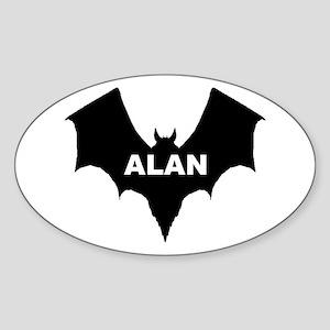 BLACK BAT ALAN Oval Sticker