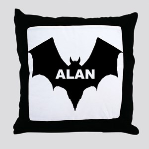 BLACK BAT ALAN Throw Pillow