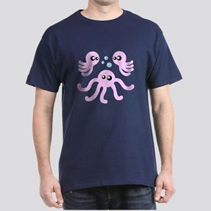 Bloopopus Cute Octopus Dark T-Shirt