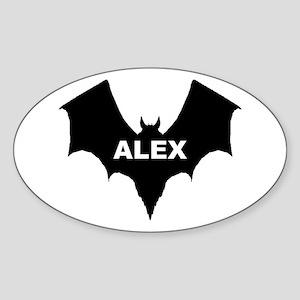 BLACK BAT ALEX Oval Sticker