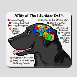 Black Lab Brain Mousepad