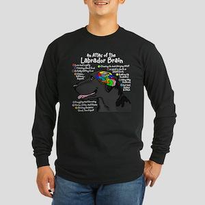 Black Lab Brain Long Sleeve Dark T-Shirt