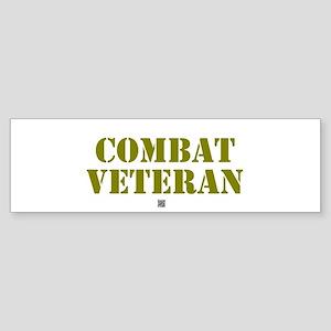 COMBAT VETERAN: - Bumper Sticker