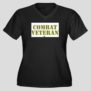 COMBAT VETERAN: - Plus Size T-Shirt