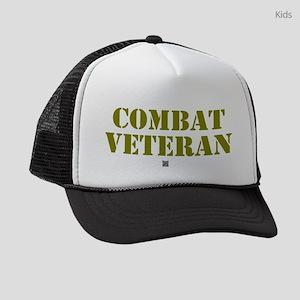 COMBAT VETERAN: - Kids Trucker hat