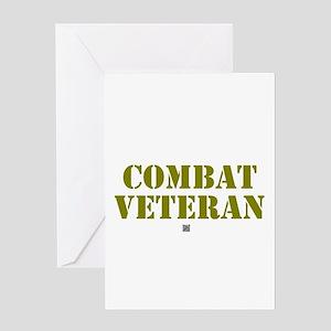 COMBAT VETERAN: - Greeting Cards