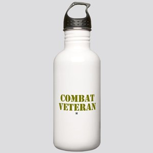 COMBAT VETERAN: - Stainless Water Bottle 1.0L
