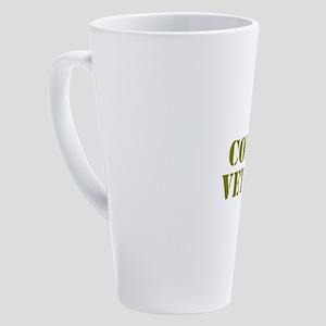 COMBAT VETERAN: - 17 oz Latte Mug