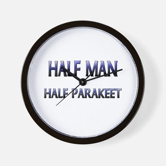 Half Man Half Parakeet Wall Clock