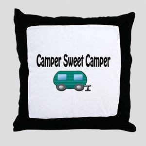 Camper Sweet Camper Throw Pillow