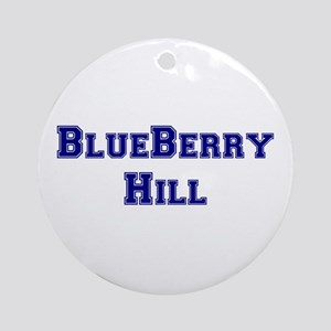 BLUEBERRY HILL Round Ornament