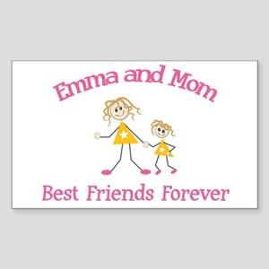 Emma and Mom - Best Friends Rectangle Sticker