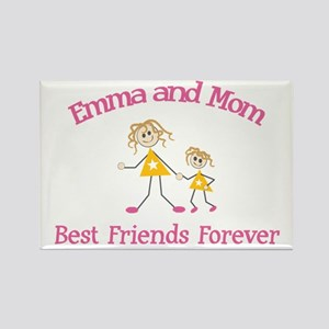 Emma and Mom - Best Friends Rectangle Magnet