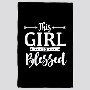 Girl is Blessed 4' x 6' Rug