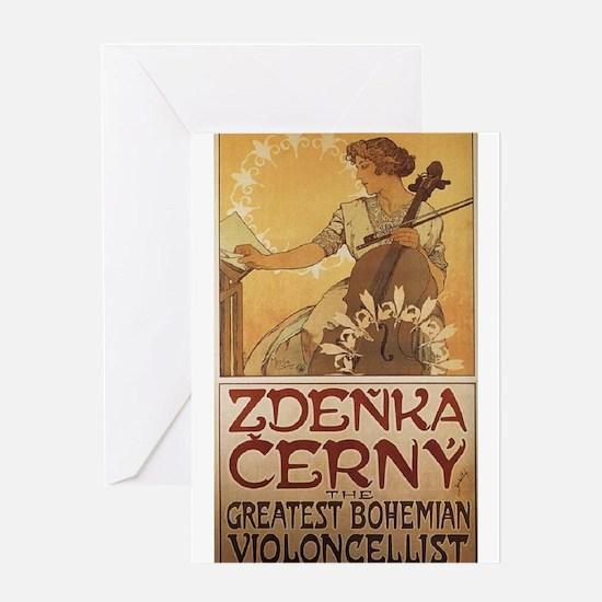 Zdenka Cerny, Cellist Greeting Card