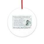 Carnegie Steel 1890 Ornament (Round)
