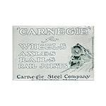 Carnegie Steel 1890 Rectangle Magnet