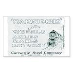 Carnegie Steel 1890 Rectangle Sticker