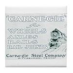 Carnegie Steel 1890 Tile Coaster