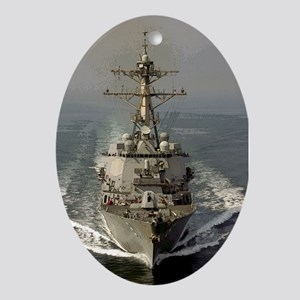USS Churchill DDG-81 Oval Ornament