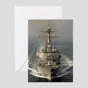 USS Churchill DDG-81 Greeting Card