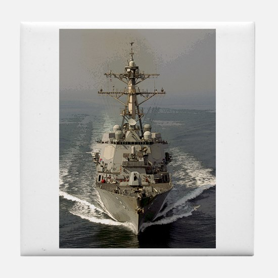 USS Churchill DDG-81 Tile Coaster