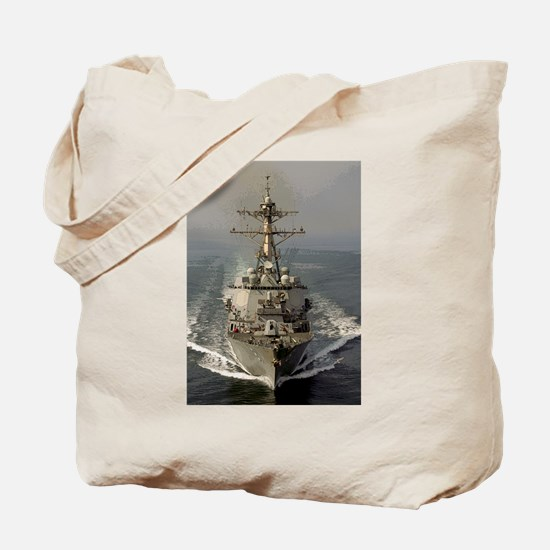 USS Churchill DDG-81 Tote Bag