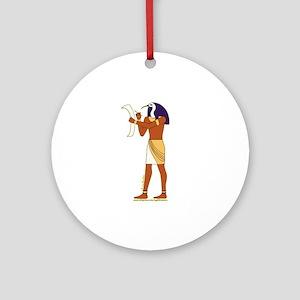 Egyptian God Thoth Ornament (Round)