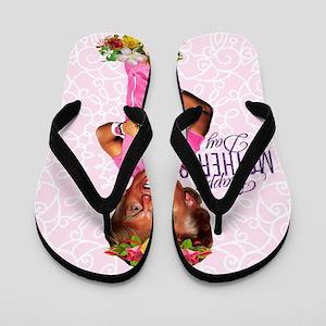 happy mothers day trump Flip Flops